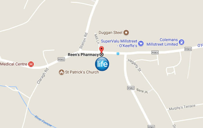 Google-Map-Reens-Life-Pharmacy-Millstreet-Cork