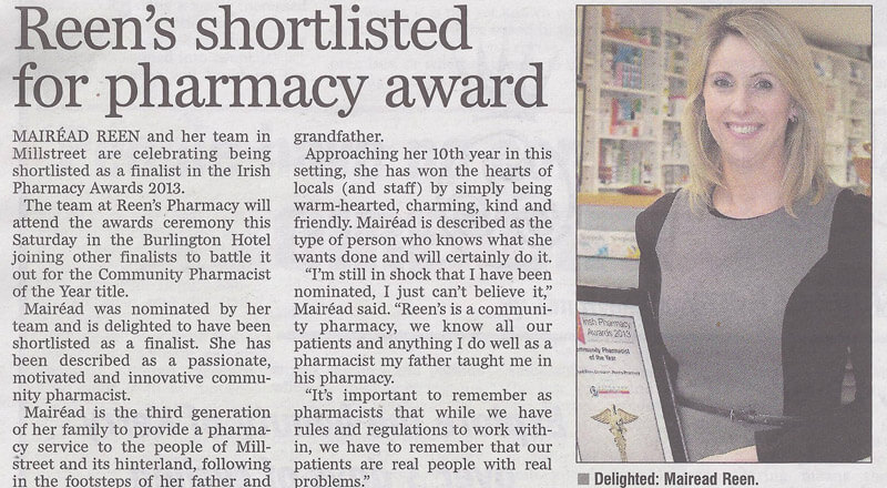 Mairead-Reen-Pharmacy-Award